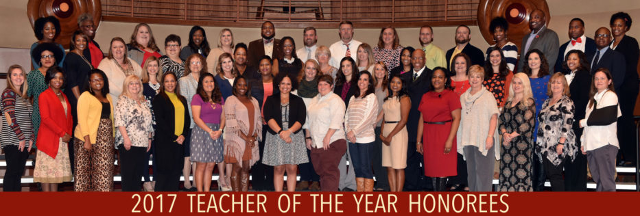 2017 Teacher of the Year Honorees